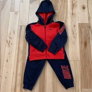 Toddler Nike Jacket/Pant Set Red/Navy